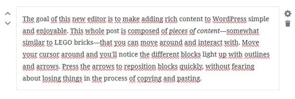 Déplacer ou modifier les blocs - Extension Gutenberg