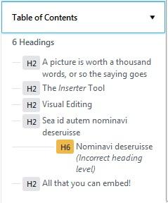 Extension Gutenberg WordPress - La table des matières